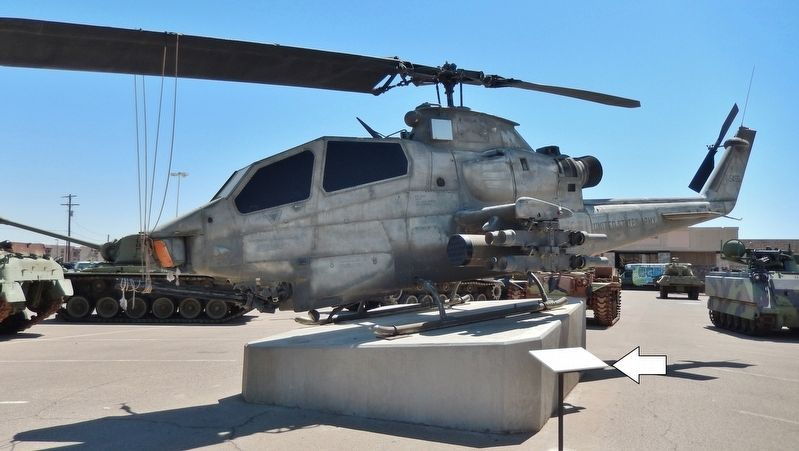 AH-1F COBRA Attack Helicopter Marker (<i>wide view</i>) image. Click for full size.