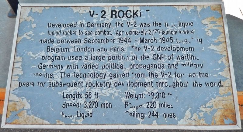 V2 Rocket Marker image. Click for full size.