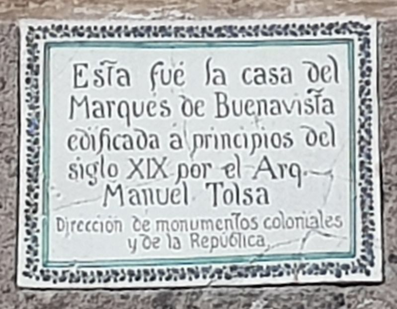 House of the Marqués de Buenavista Marker image. Click for full size.