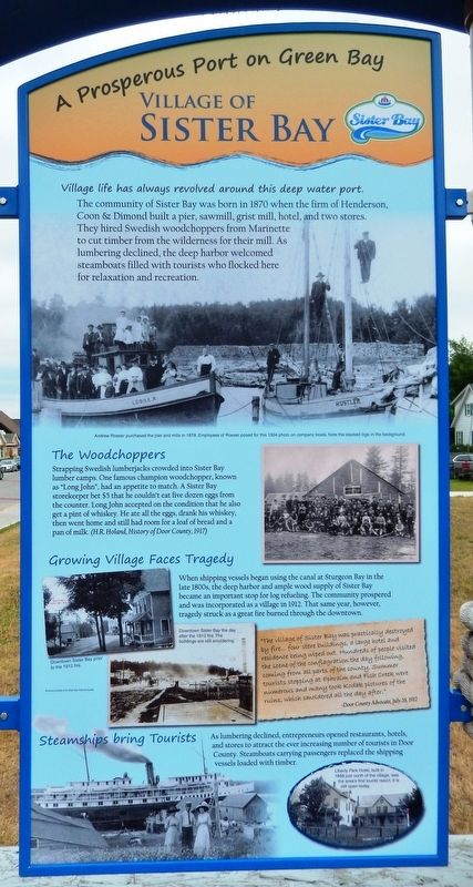 Village of Sister Bay Marker image. Click for full size.