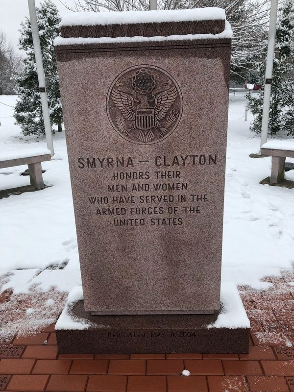 Smyrna-Clayton Veterans Memorial image. Click for full size.