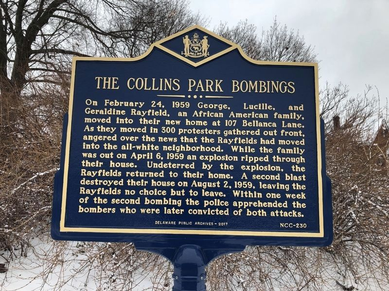 The Collins Park Bombings Marker image. Click for full size.