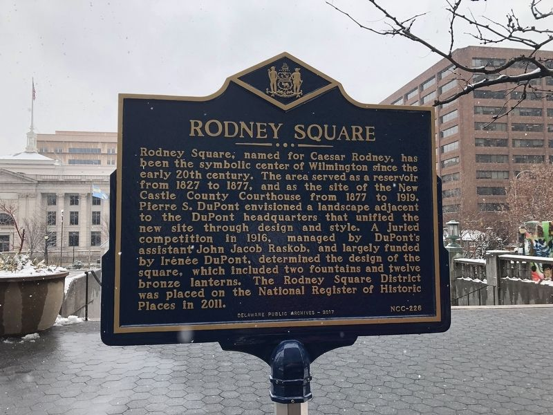 Rodney Square Marker image. Click for full size.