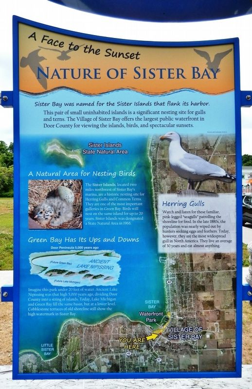 Nature of Sister Bay Marker image. Click for full size.