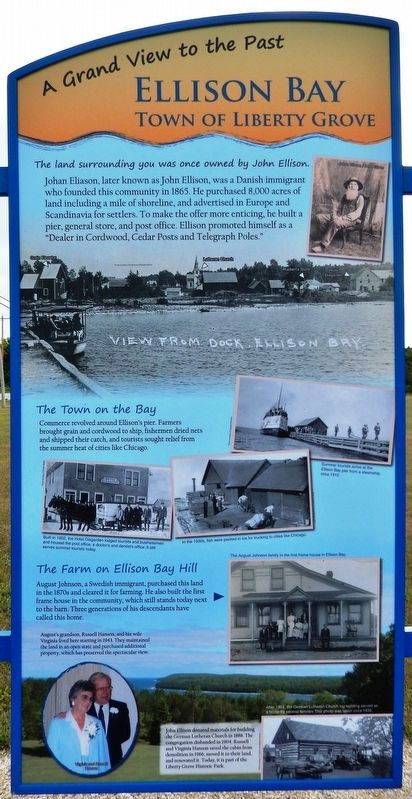 Ellison Bay Marker image. Click for full size.
