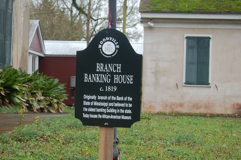 Branch Banking House Marker image. Click for full size.