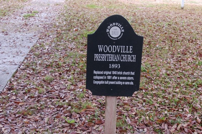Woodville Presbyterian Church Marker image. Click for full size.