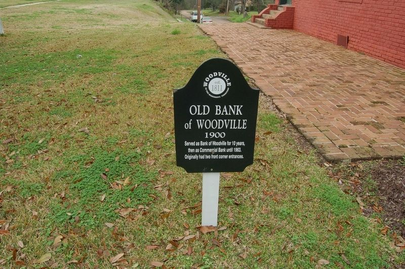 Old Bank of Woodville Marker image. Click for full size.