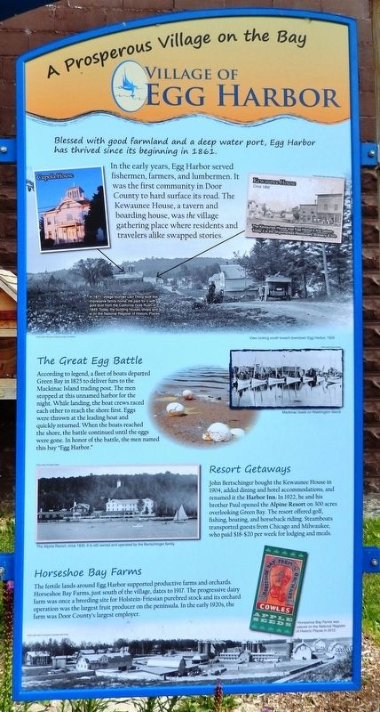 Egg Harbor Marker image. Click for full size.