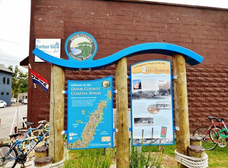 Egg Harbor Marker Kiosk image. Click for full size.