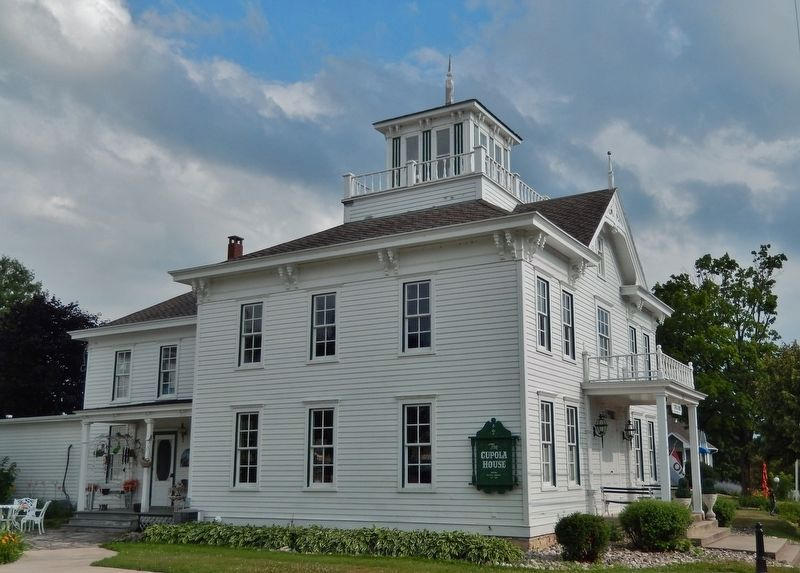The Cupola House (<i>located on Egg Harbor Road, 1/10 mile north of marker</i>) image. Click for full size.