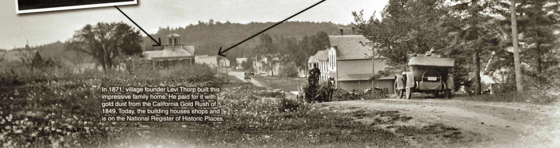 Marker detail: View looking south toward downtown Egg Harbor, 1925 image. Click for full size.