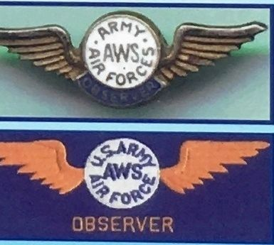 Marker detail: Examples of flight wings worn by AWS observers image. Click for full size.