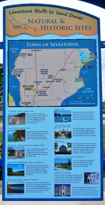 Natural & Historical Sites Panel (<i>mounted adjacent to marker on left side of kiosk</i>) image. Click for full size.