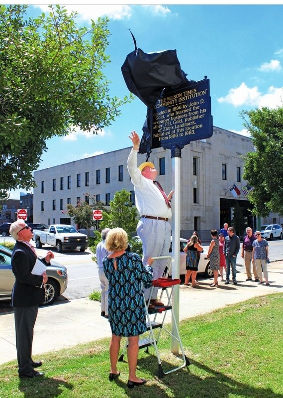 The Wilson Times Marker unveiling image. Click for full size.