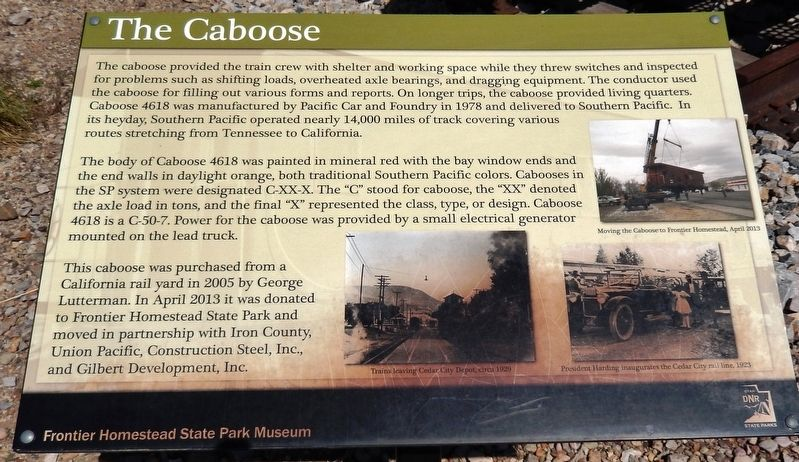 The Caboose Marker image. Click for full size.