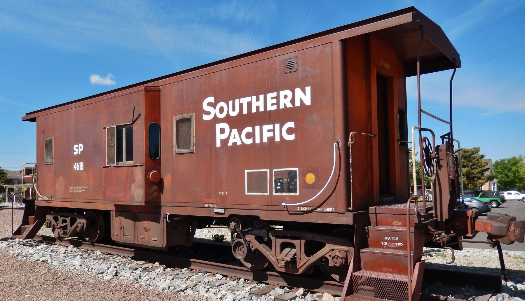 Southern Pacific Caboose #4618 image. Click for full size.