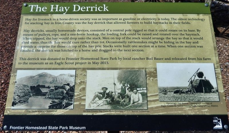 The Hay Derrick Marker image. Click for full size.