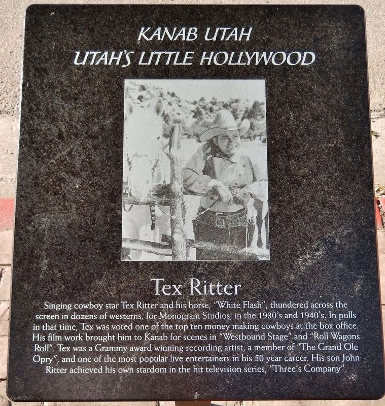 Tex Ritter Marker image. Click for full size.