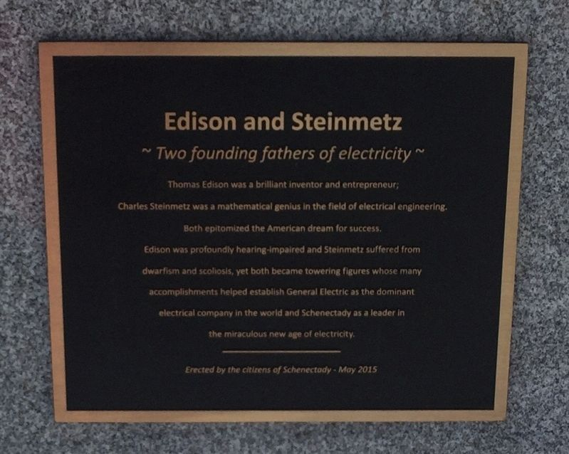 Edison and Steinmetz Marker image. Click for full size.