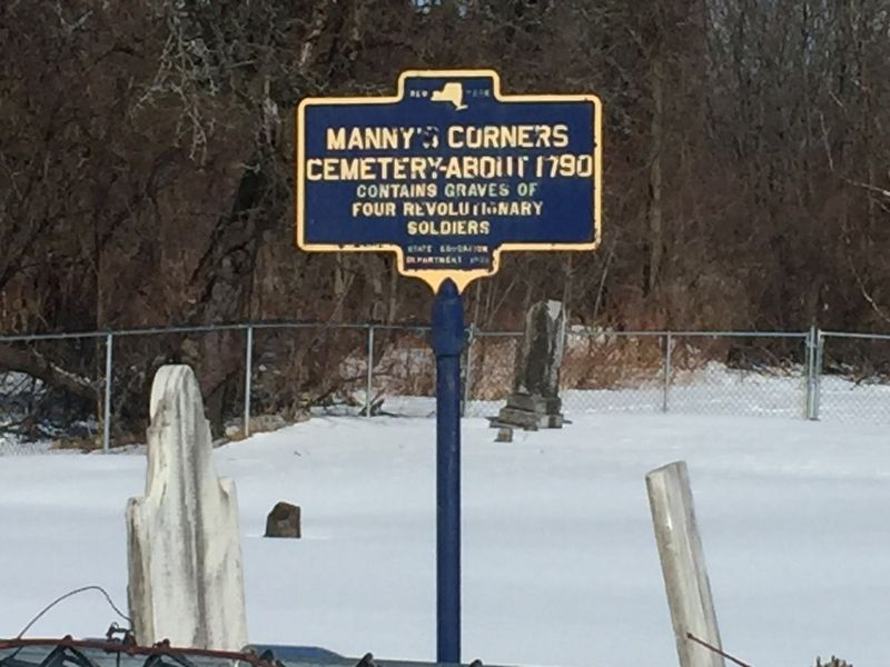 Manny's Corners Cemetery Marker image. Click for full size.
