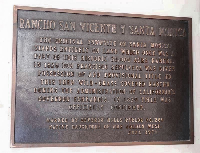 Rancho San Vicente y Santa Monica image. Click for full size.
