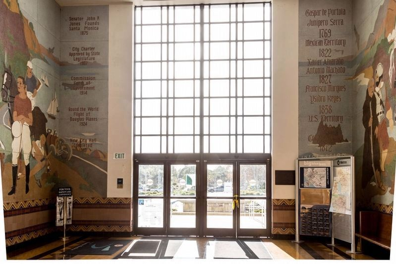 Santa Monica City Hall Lobby Murals image. Click for full size.
