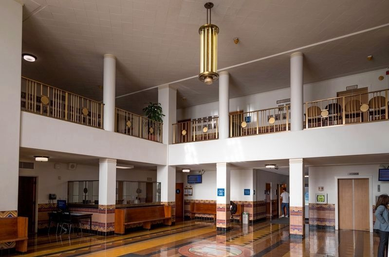 Santa Monica City Hall Lobby image. Click for full size.