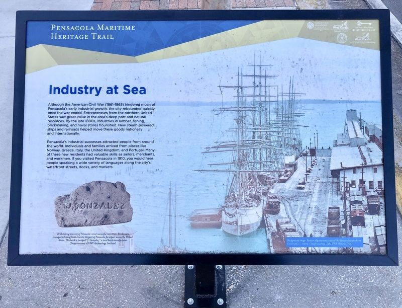 Industry At Sea Marker image. Click for full size.