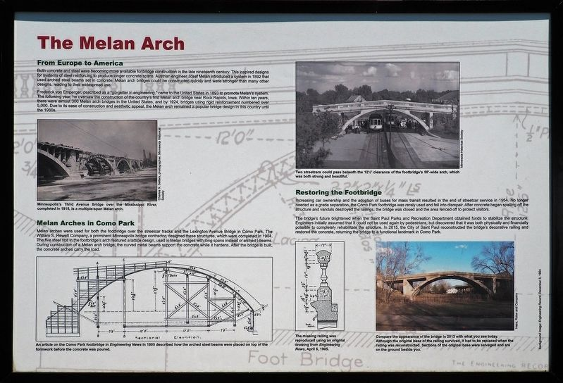 The Melan Arch marker image. Click for full size.