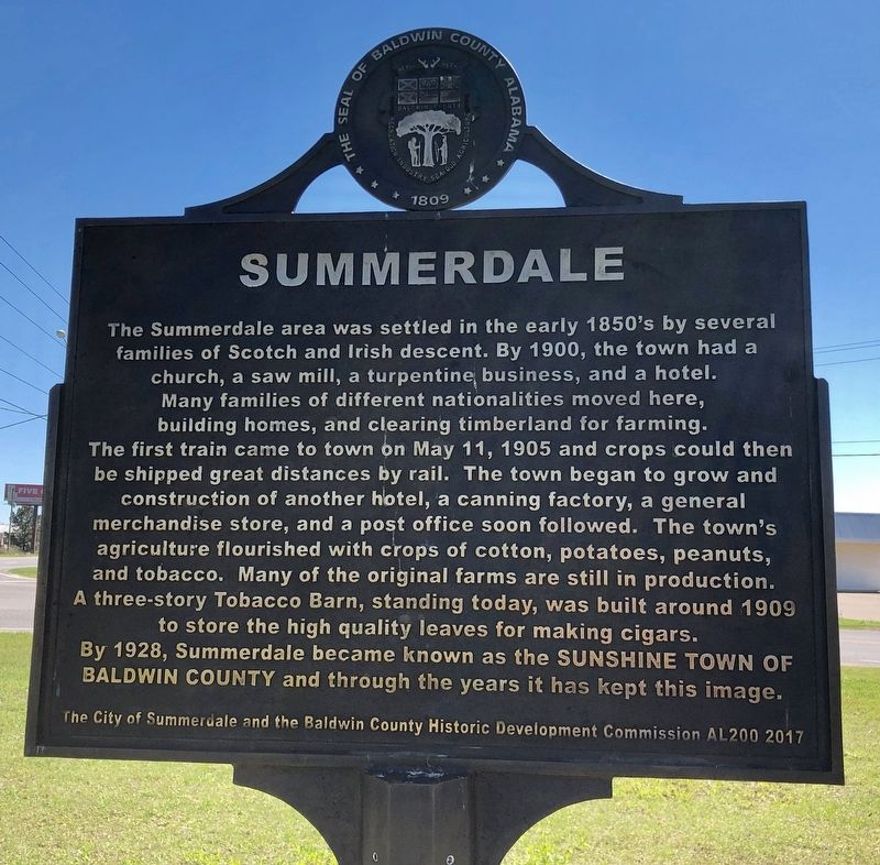 Summerdale Marker image. Click for full size.