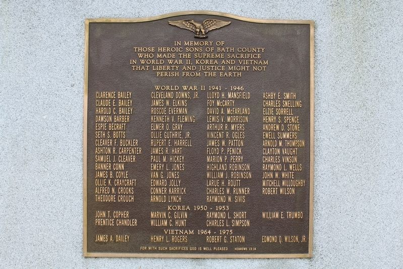 Bath County War Memorial image. Click for full size.