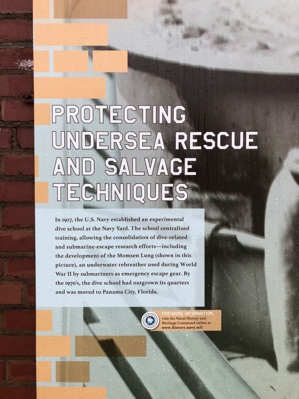 Protecting Undersea Rescue and Salvage Techniques Marker image. Click for full size.