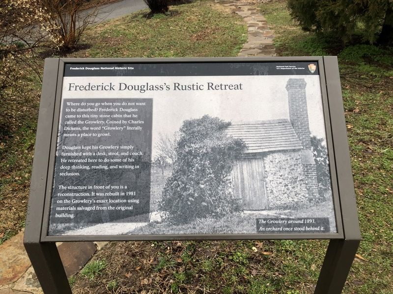 Frederick Douglass's Rustic Retreat Marker image. Click for full size.