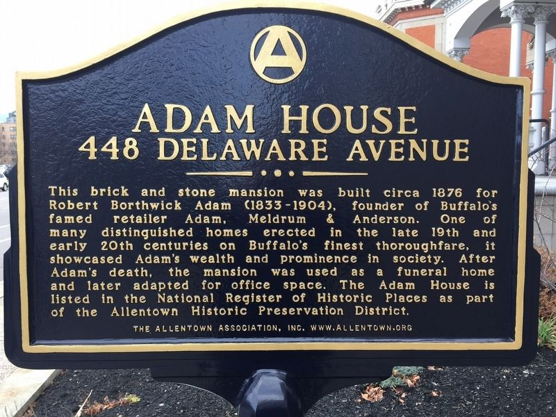 Adam House Marker image. Click for full size.