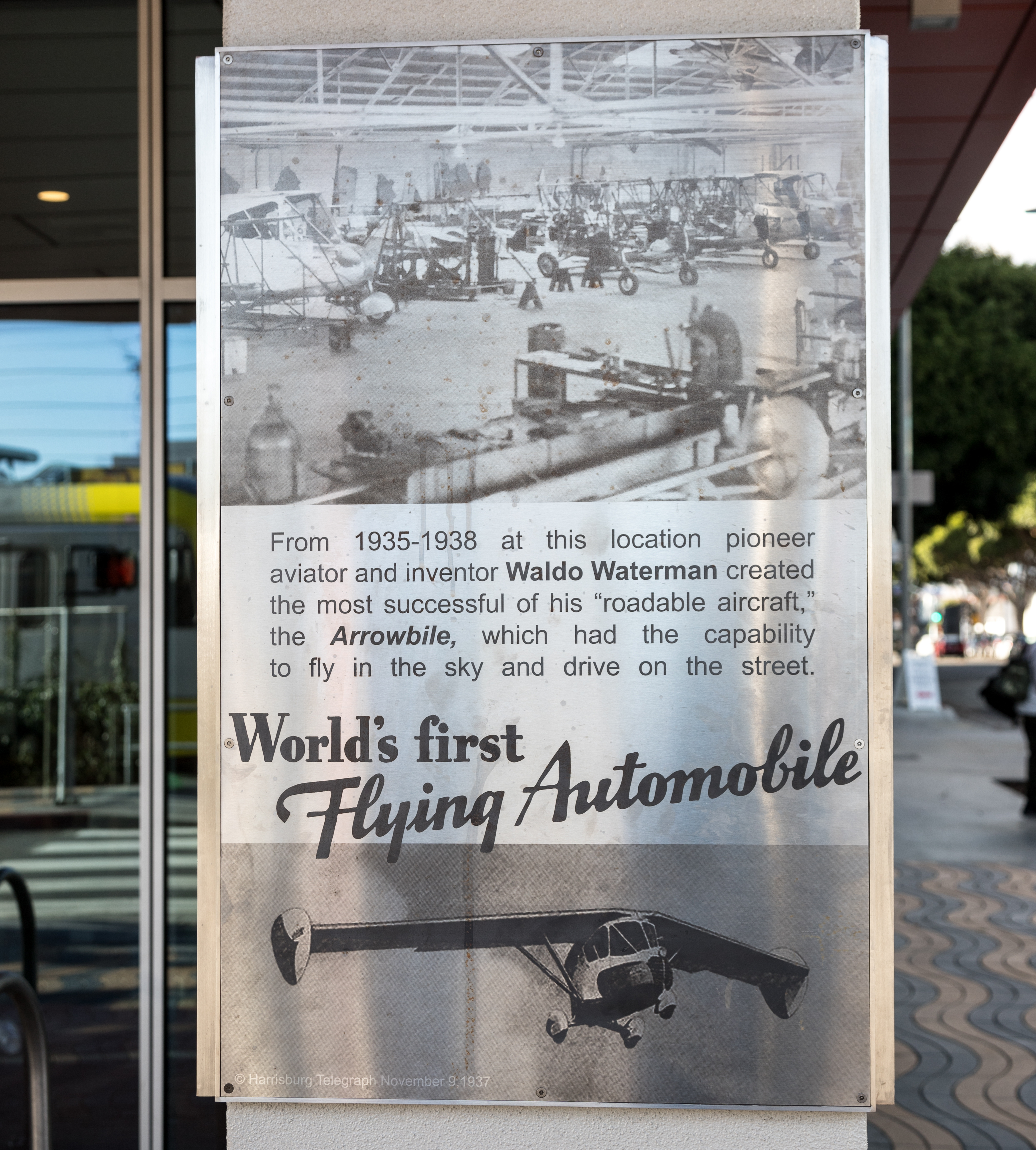 World's First Flying Automobile Marker, main panel