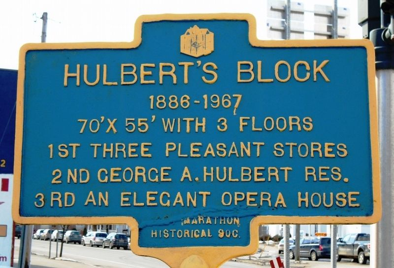Hulbert's Block Marker image. Click for full size.