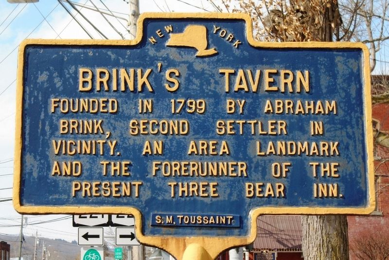 Brink's Tavern Marker image. Click for full size.