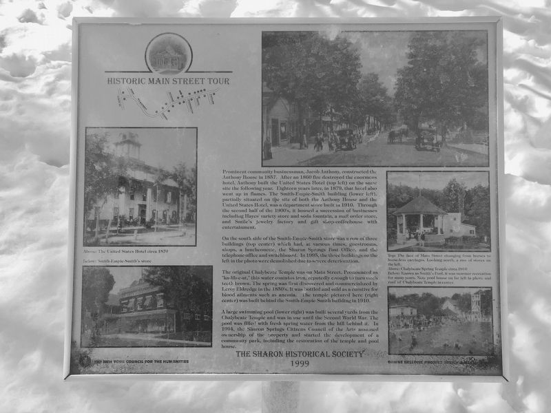 Historic Main Street Tour Marker image. Click for full size.