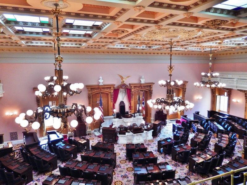 Ohio State House (<i>House of Representatives Chamber</i>) image. Click for full size.