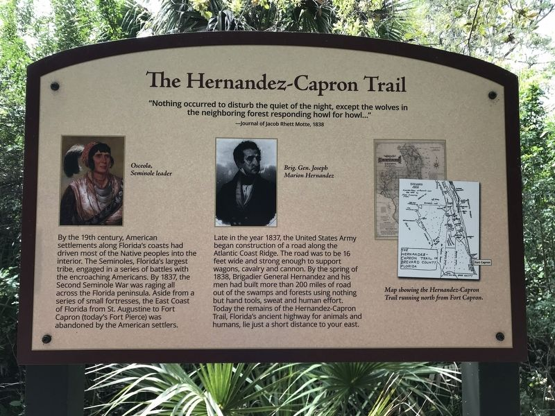 The Hernandez-Capron Trail Marker image. Click for full size.