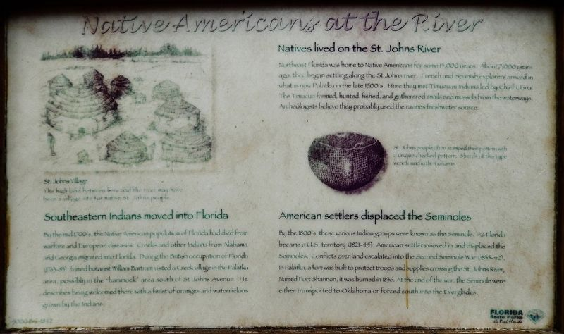 Native Americans at the River Marker image. Click for full size.
