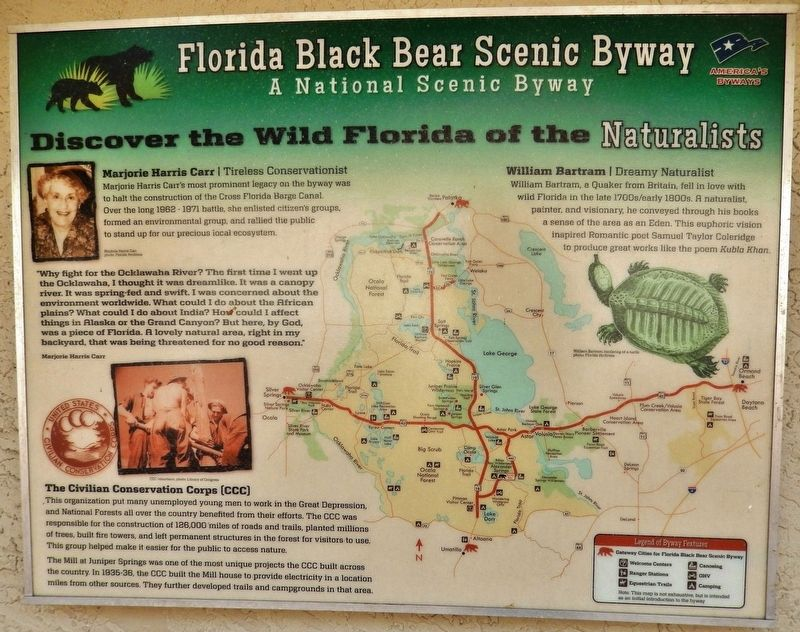 Florida Black Bear Scenic Byway Marker image. Click for full size.