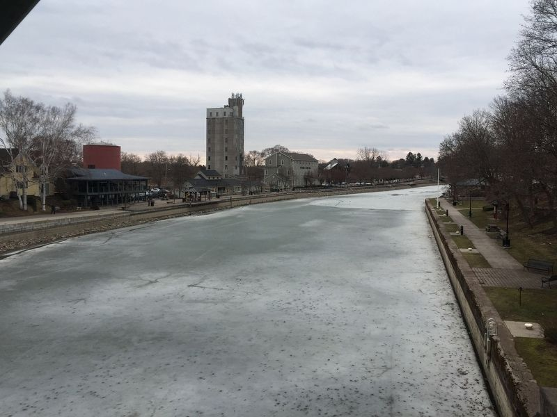 Erie Canal at Auburn Line Park image. Click for full size.