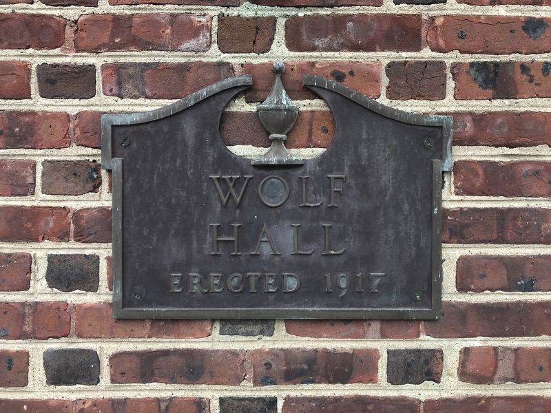 Plaque on Wolf Hall image. Click for full size.