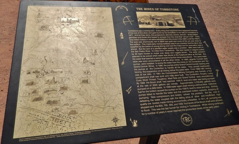 The Mines of Tombstone Marker image. Click for full size.