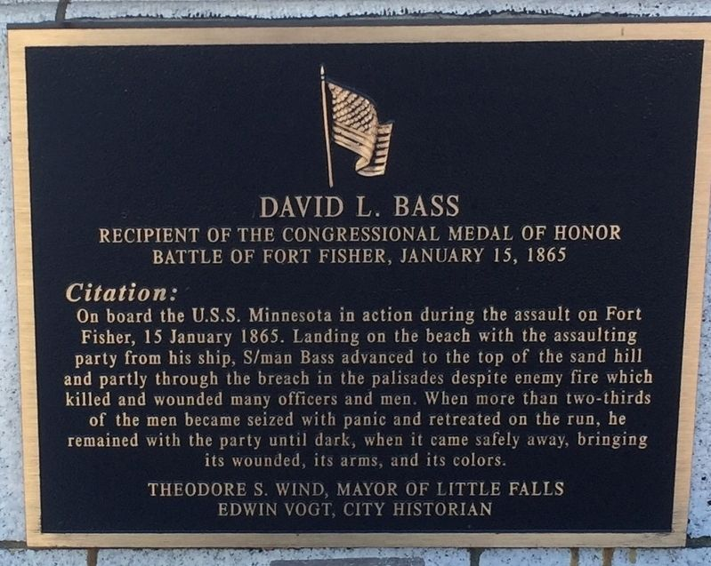 David L. Bass Marker image. Click for full size.