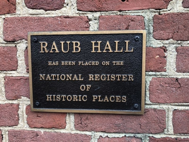 Raub Hall Marker image. Click for full size.