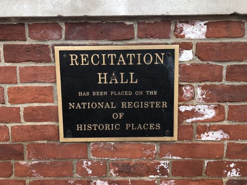 Recitation Hall Marker image. Click for full size.