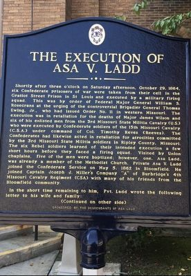 The Execution of Asa V. Ladd Marker image. Click for full size.